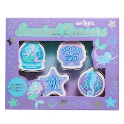 Mermaid Scented Erasers Box X4