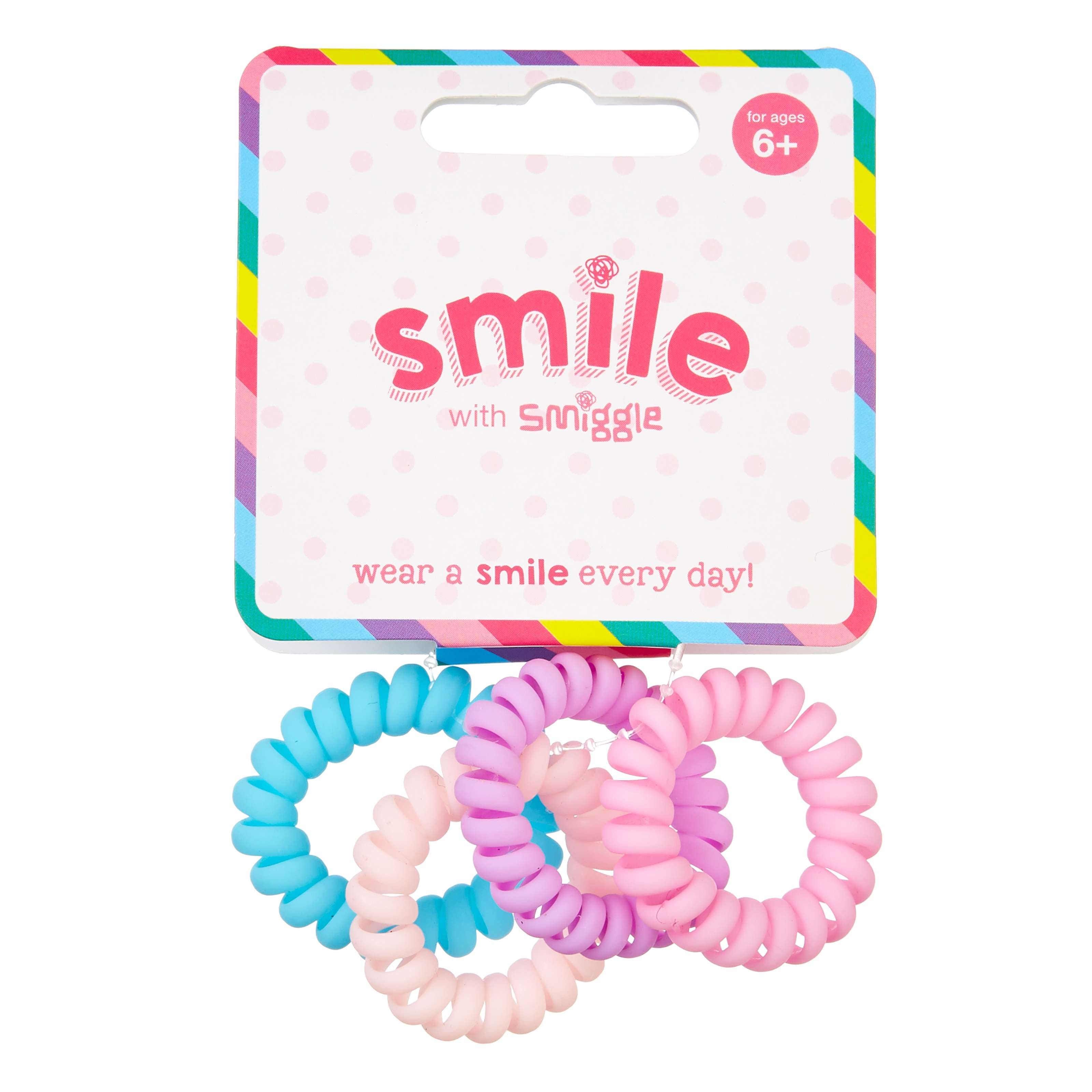 Mini Coil Hair Ties Pack X4 - Smiggle Online d77d35263a9