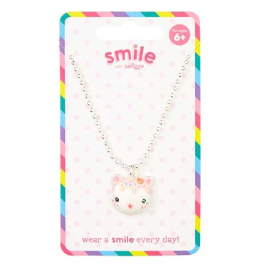 Smile Cat Cake Necklace
