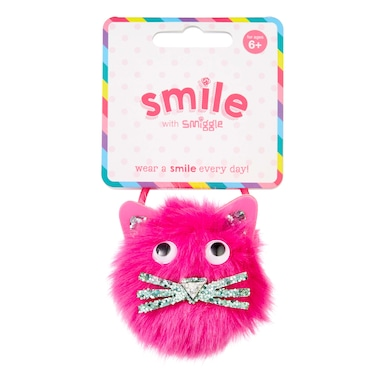 Smile Pom Pom Fun Hair Ties