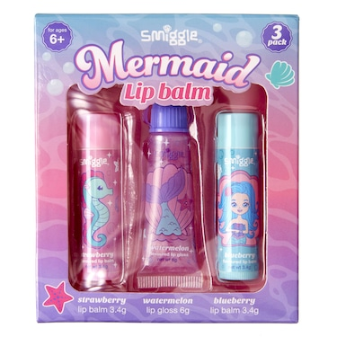 Mermaid Lip Balm Pack X3